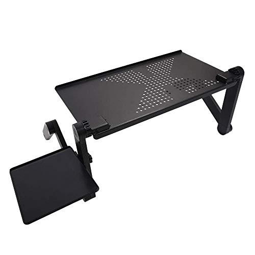 BJYG Mesa Plegable Ajustable Plegable portátil para Escritorio de computadora portátil Bandeja de Soporte para computadora portátil para sofá Cama Negro