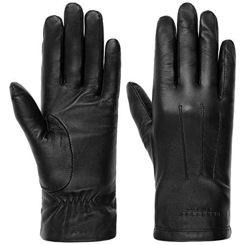 Seeberger Spencer Lederhandschuhe Handschuhe Damenhandschuhe Fingerhandschuhe (8 HS - schwarz)