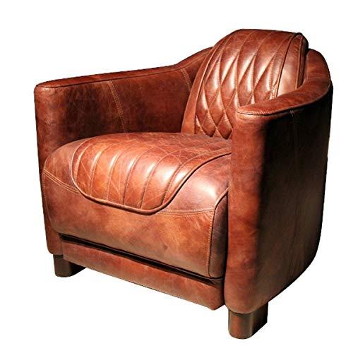 Casa Padrino Echtleder Wohnzimmer Sessel Vintage Braun 73 x 85 x H. 72 cm Kollektion