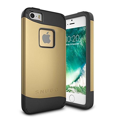Funda iPhone SE, Snugg Apple iPhone SE Case Slim Carcasa de Doble Capa [Infinity Series] Revestimiento con Protección Anti-Golpes - Oro