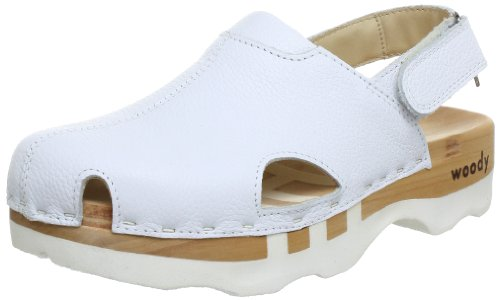 Woody Damen London Clogs, Weiß (Weiss), 39