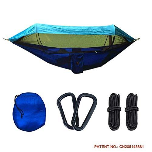 Hamacs d'extérieur, hamac Swing extérieur Jungle Explorer Portable Double Camping avec moustiquaire Amovible moustiquaire Abat-Jour détachable Toile Tissu Voyage