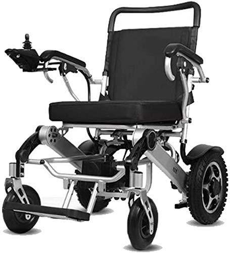 KFDQ Elektrischer Rollstuhl Rollstuhl, leichter faltbarer Doppelfunktionsrollstuhl, Felge aus Magnesiumlegierung. Fahren Sie mit Strom oder verwenden Sie als manueller Rollstuhl. (Elektromotorisierte