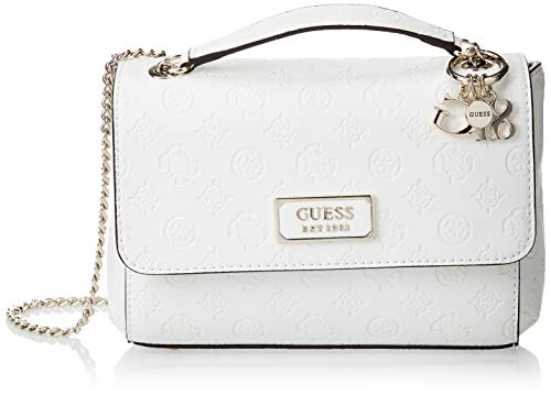 GUESS Logo Love Convertible Crossbody Ivory One Size