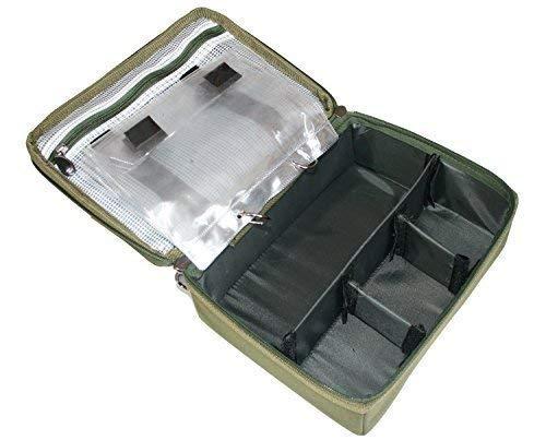 Karpfenangeln Ausrüstung Pva & Rigg Aufbewahrungstasche / Leine Tasche mit 4 Fächer Ideal Zum Halten Alle Man Gerät Gut Organised