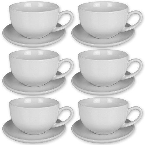 Tassen-Set 12tlg. mit Modellauswahl - Espresso Tassen Set 12tlg. - Cappuccino Tassen Set 12tlg. - Tassen mit Untertasse (Cappuccino Set)