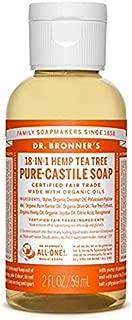 Dr. Bronner's Organic Castile Liquid Soap Liquid, Tree Tea, 2 Ounce