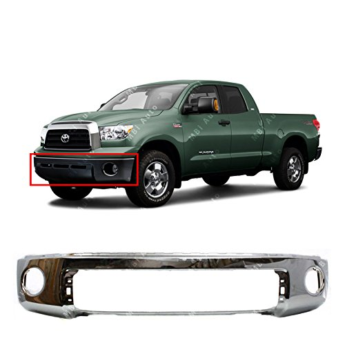 MBI AUTO - Chrome, Steel Front Bumper Face Bar for 2007 2008 2009 2010 2011 2012 2013 Toyota Tundra Pickup 07-13, TO1002182
