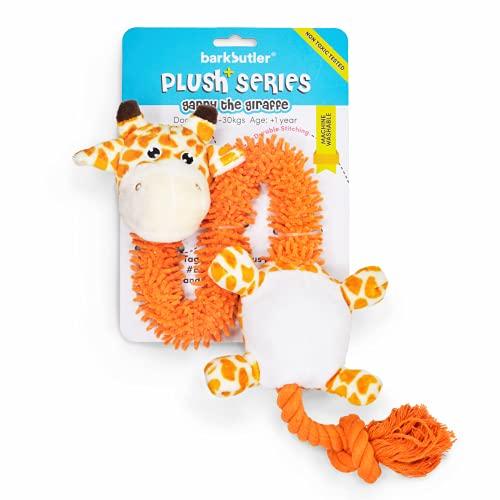 Barkbutler Garry The Giraffe Soft Squeaky Plush Dog Toy