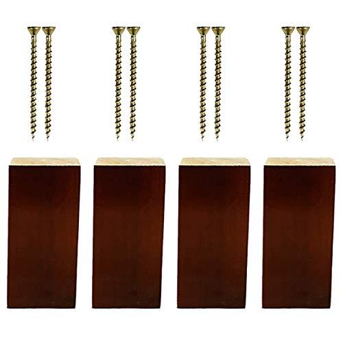 RZM - Patas de madera para muebles (4 paquetes)