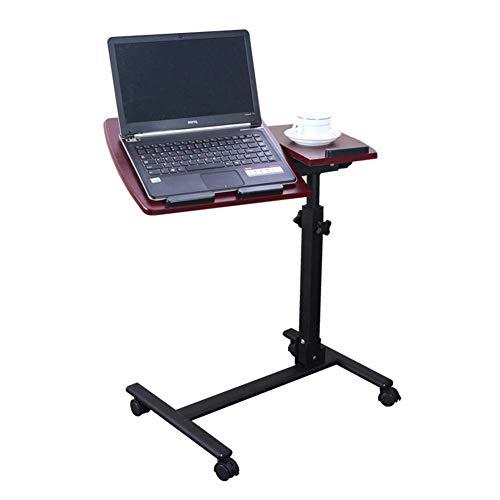 ZND Draagbare Eenvoudige Laptop Stand voor Bureau Opvouwbare Computer Bureau Nachtkastje Luie Bureau Hoogte Verstelbaar, 2 Kleuren, Hoog 60-95Cm Verstelbaar (Kleur: Wit Esdoorn Kleur, Maat : 60X35Cm), Rood Walnu