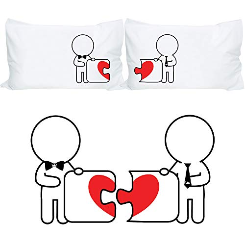 BOLDLOFT Made for Each Other His and His Pillowcases- Gay Couples Gifts - Gay Gifts - Wedding Gifts for Gay Couple -Gifts for Gay Men- for Valentine's Day Anniversary Christmas Engagement-LGBT Gifts