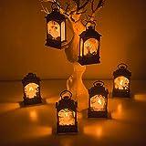 WYYHAA Luci Appese di Halloween, 6 Pezzi Lanterna LED Zucca Castello Luce Halloween Appesi Lanterna Puntelli Festa Strega Creativo Cranio Decorazioni per La Casa per Bambini Plastica