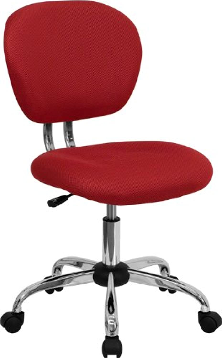 Flash Furniture H-2376-F-RED-GG Mid-Back Red Mesh Task Chair with Chrome Base