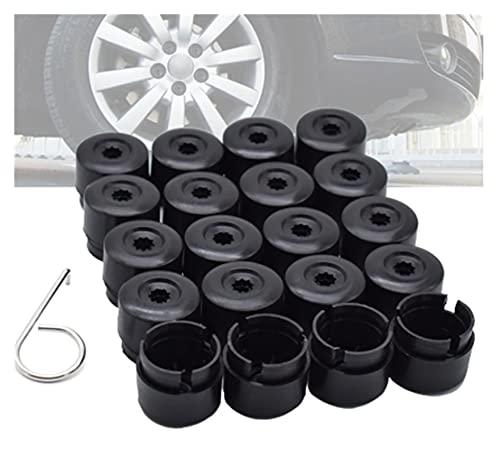 XYXYMY 20 unids 19mm Tuerca de rueda de automóvil Auto Hub Tornillo Tornillo Tapas de protección Tuerca de rueda Tornillo Tapa de la cabeza Caps Caps Ajuste para VW Transporter T5 T6 2003-2020