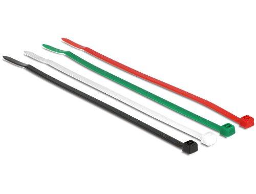 Delock 18624 150 mm, 85 stuks. [25x, 20x kabelbinders 150 mm 85 stuks versie C gekleurd, zwart, groen, rood, wit