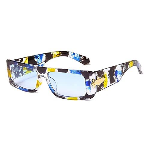 JINZUN Gafas de Sol de Moda, Gafas de Sol cuadradas, Visera de Moda, Gafas Anti-Ultravioleta, Unisex C5