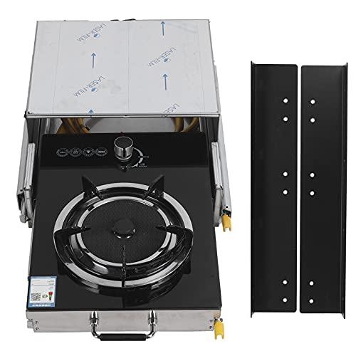 Estufa De Encimera Para RV, Quemadores De Encimera De Estufa De Gas Para RV Con Soporte De Fijación Para Montaje De RV Para Montaje En Yate