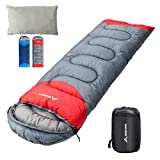 BISINNA Sleeping Bag with Pillow - 4 Season Backpacking Sleeping Bag Lightweight Waterproof Warm and Washable for Adults, Kids, Women, Men's Outdoors Camping, Hiking, Mountaineering