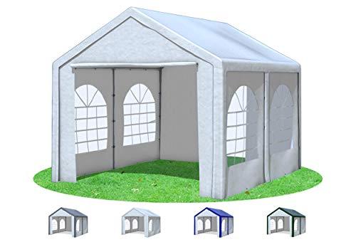 Stabilezelte Partyzelt 3x4 m Modular Pro PE 240 g/m² wasserdicht inkl. Seiten Festzelt Gartenzelt Weiss