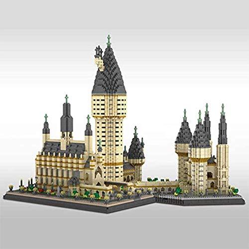 XDLH 7750 + PCS Modelo De Construcción Micro-Partículas Ensamblada Juguete Niño Construcción Educativa DIY Juguete Regalos, Nano Edificio Modelo Hogwarts Castillo