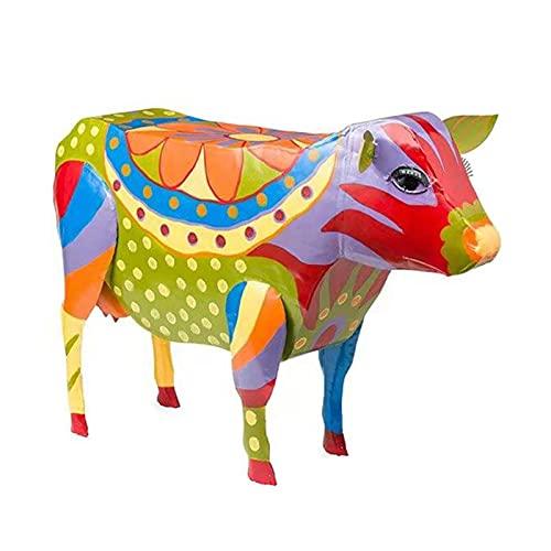 QKFON Forma Animal Reposapiés Mesa auxiliar Animal Figura Diversión Animal Resina Animal Arte Titular Colorido Animal Ornamentos Esculturas Para Sala Dormitorio