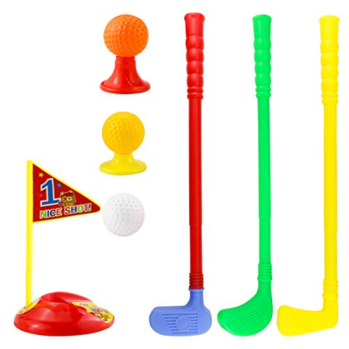 Twdrer Plastic Golfer Toy Toddler Golf Game Toy Set,Educational Golf Clubs Toys for Toddlers,Kids,Children