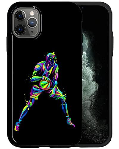 JUSPHY - Funda para teléfono compatible con iPhone 11 Pro Max, colorido jugador de baloncesto SP009_4, diseño de moda, accesorios de teléfono