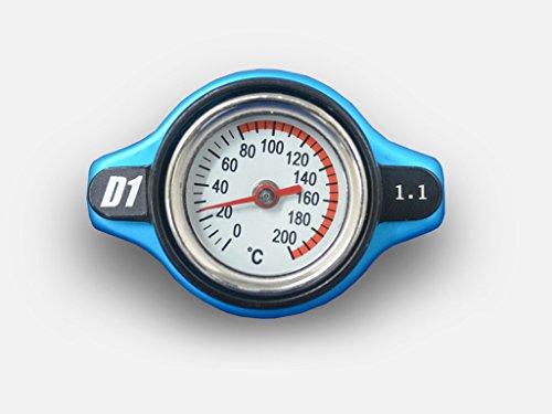 (1) D1spec Thermost Radiateur Cap + Temp Gauge 1.1 Barre Coque Petite tête large