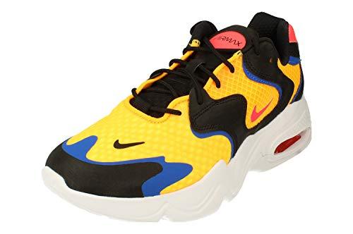 Nike Air MAX 2X Hombre Running Trainers CK2943 Sneakers Zapatos (UK 9 US 10 EU 44, Laser Orange Flash Crimson 800)