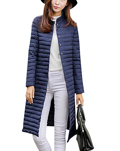 Damska kurtka puchowa, długi kaptur, ultra lekki, zimowy, ciepły płaszcz puchowy, pikowana, parka