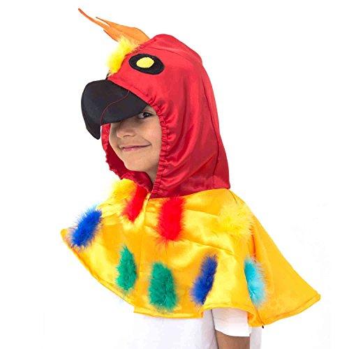 Déguisement de Perroquet - Costume d'oiseau pour enfants - Cape animal taille unique 3-8 ans