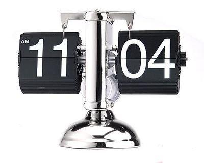 フリップスタンドクロック パタパタ時計 ブラック【並行輸入品】