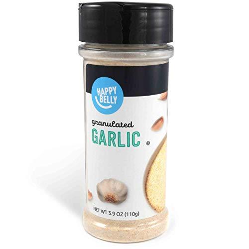 Amazon Brand - Happy Belly Garlic, Granulated, 3.9 Ounces