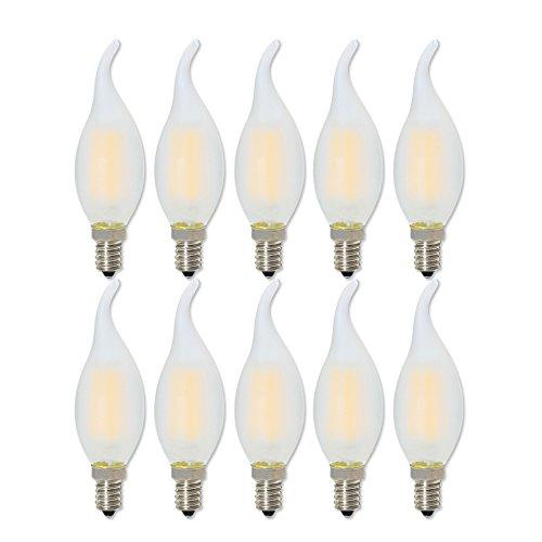 E14 Filamento LED 4W Dimmerabile Edison LED C35 Lampadina Vintage LED Bianco Caldo 2700K,Equivalenti a 40W Incandescenza,10 pezzi