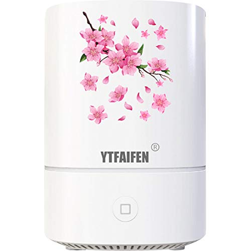 YTFAIFEN桜 アロマオイル加湿器1台3役 ハイブリッド式除菌車載ディフューザーUSB卓上スチームすちーむ式超...