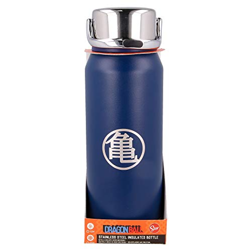 Stor Dragon Ball   Botella de Agua Termo Reutilizable de Acero Inoxidable   Botella de Agua aislada al vacío con diseño de Doble Pared para Mantener la Temperatura - Tapa con asa - Libre BPA -