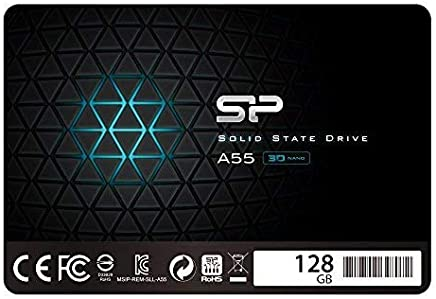 "$21 Get Silicon Power 128GB SSD 3D NAND A55 SLC Cache Performance Boost SATA III 2.5"" 7mm (0.28"") Internal Solid State Drive (SU128GBSS3A55S25AC)"