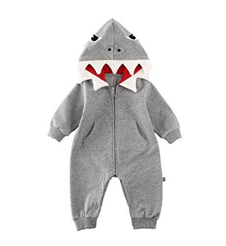 Baby Meisje Jongen Haai Romper Bodysuit Jumpsuit Playsuit Outfits Kleding Kostuum
