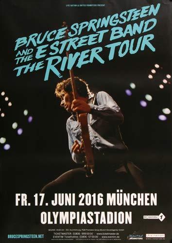 Bruce Springsteen - Live ON Stage, München 2016 » Konzertplakat/Premium Poster   Live Konzert Veranstaltung   DIN A1 «