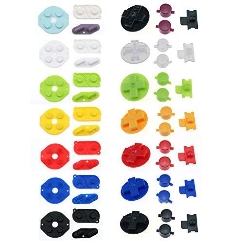 Juego de almohadillas de silicona conductoras con botones para consola Nintendo Game...
