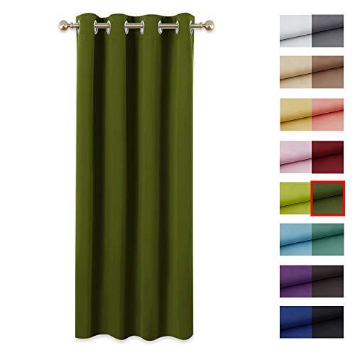 cortinas salon verde oliva
