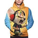 Zootopia Men's Novelty Hoodie Casual Sweatshirt with Kangaroo Pocket Hoodies Coat 3X-Large Black