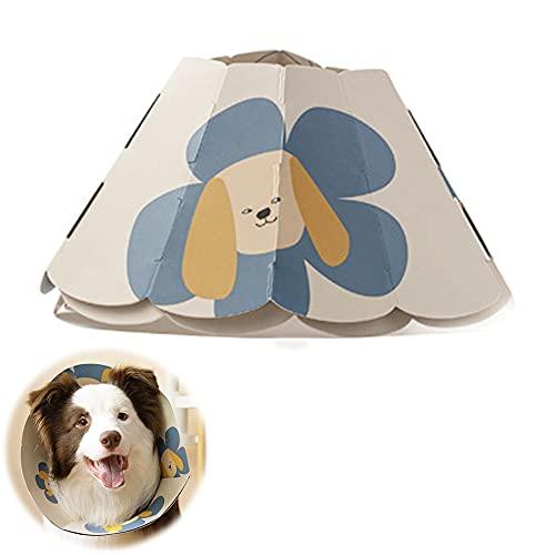 Befitery Collarín para gatos, papel de recuperación, cuello protector de cuello Elisabetánico, antimordeduras y antifugas, ajustable para mascotas, gatos, perros, cachorros y gatitos (L)