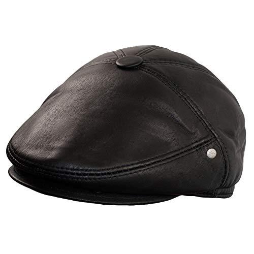 Dazoriginal Boina Cuero Casquillos Plano Gorra Piel Gatsby Sombrero Hombre Beret (XL)