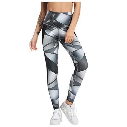 Legging de Yoga pour Femme - Taille Haute - Respirant - Réglage du Ventre - pour la Gym, Le Sport - Cadeau d'anniversaire - Noir - S