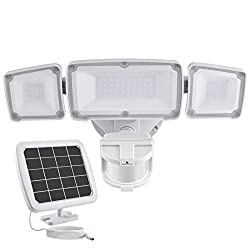 GLORIOUS-LITE Solar Security Light Outdoor, Solar Powered Security Lights, Motion Sensing Security Lights, Home Security Lights, Home Security