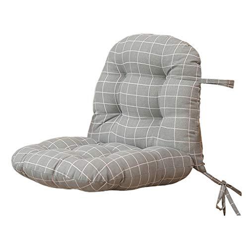 Baoblaze Einteiliges Zurück Unterstützung Sitzkissen Mit Krawatten Zipper Design Für Stuhl - Grau, 40x38x38cm