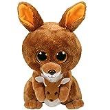 TY- Beanie Boo's Kipper, canguro, Color marrón, 23 cm (United Labels...