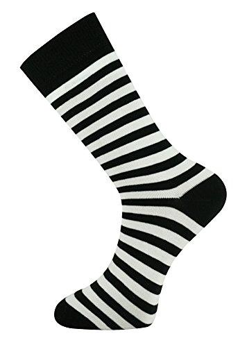 Calcetines raya blanco y negro